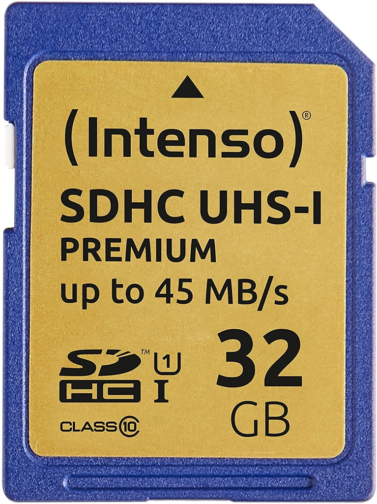 CARD SDHC 32GB CLASS 10 INTENSO 90MB/s CARD PRO UHS I [02221]