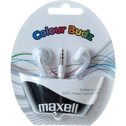 [A04628] KUFJE MAXELL EARPHONES CB-WHITE STEREO COLOUR BUDZ