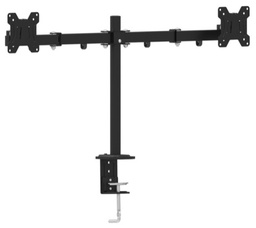 "[A04877] GEMBIRD Adjustable desk 2-display mounting arm (tilting), 13""-27"", up to 7 kg 