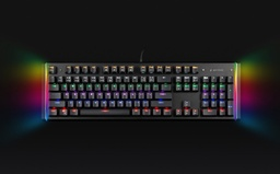 [A05840] GEMBIRD Optical switch mechanical backlight gaming keyboard, black, US layout | KB-UMW-01